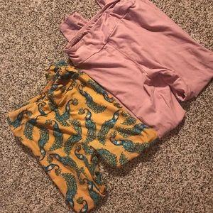 Two pairs of kids LuLaRoe leggings